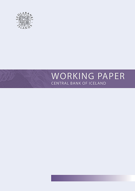 Cover of Working Paper